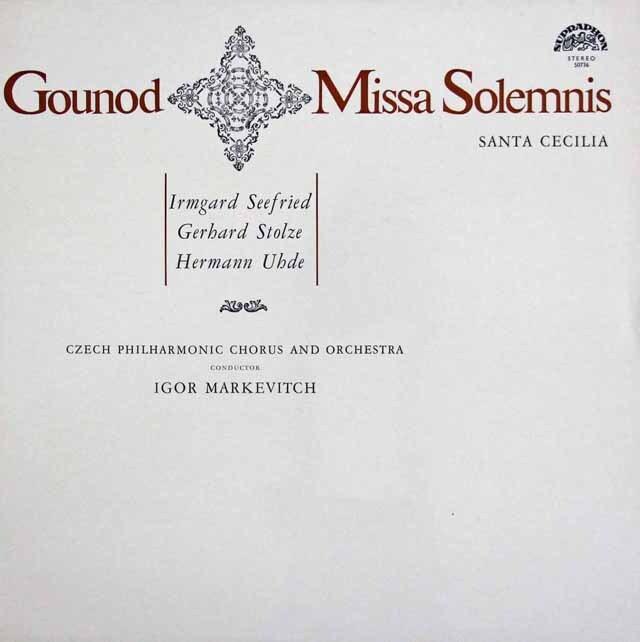 マルケヴィチのグノー/聖チェチーリア荘厳ミサ曲 チェコスロヴァキアSUPRAPHON 3327 LP レコード