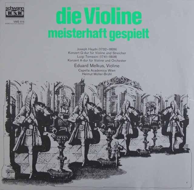 メルクスのハイドン&トマシーニ/ヴァイオリン協奏曲集 独Schwann 3327 LP レコード