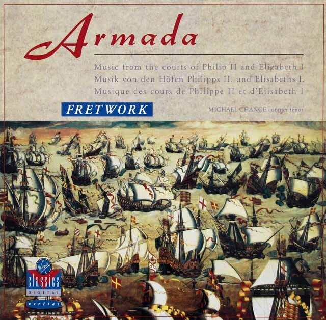 フレットワークのアルマダ(無敵艦隊)~フェリペ2世とエリザベス1世期の宮廷音楽 独Vergin Classics 3327 LP レコード