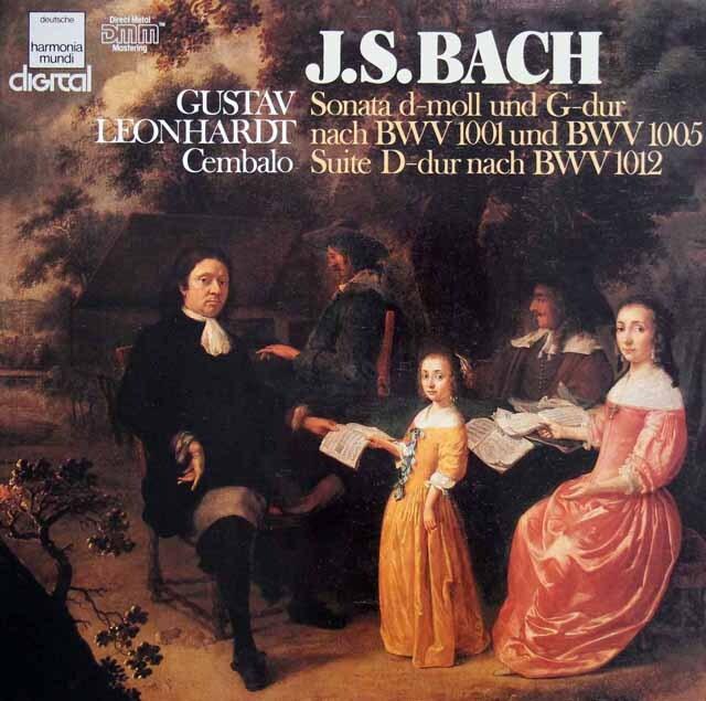 レオンハルトのバッハ/無伴奏ヴァイオリンソナタ第1&3番(チェンバロ版)ほか 独HM 3327 LP レコード