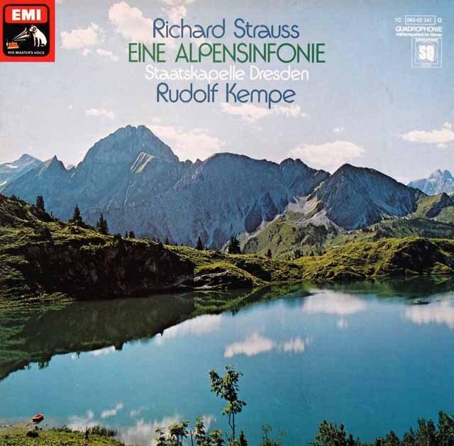 ケンペのR.シュトラウス/アルプス交響曲 独EMI   3327 LP レコード