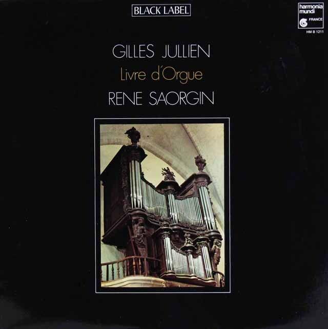 サオルジャンのジュリアン/「オルガンの書」 仏HM 3327 LP レコード