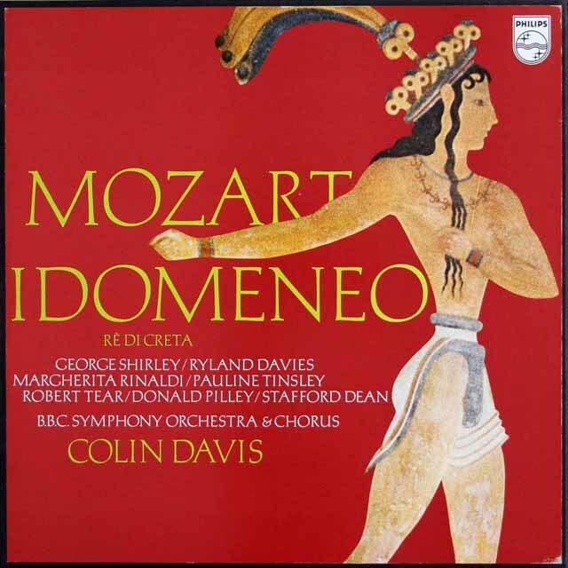 デイヴィスのモーツァルト/「イドメネオ」全曲 蘭PHILIPS 3327 LP レコード