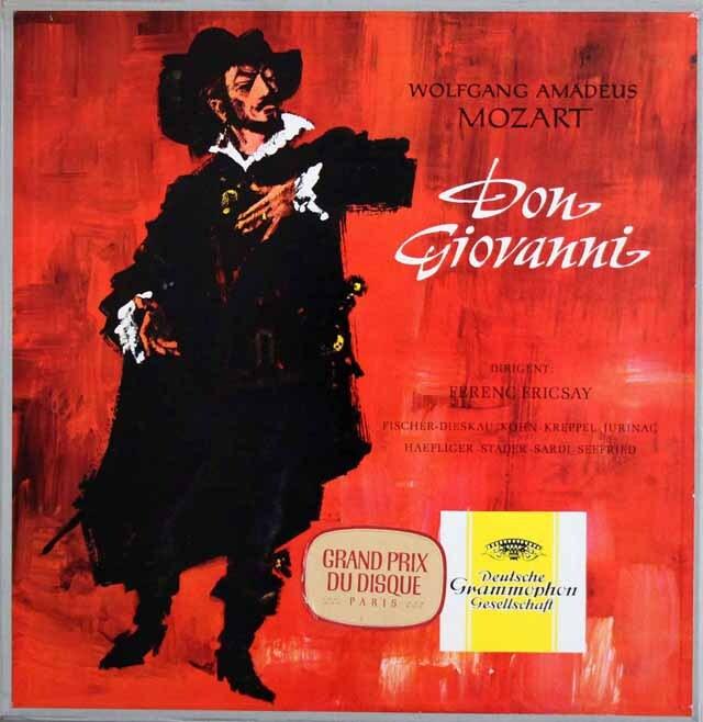 【独最初期盤 】 フリッチャイのモーツァルト/「ドン・ジョヴァンニ」全曲 独DGG 3327 LP レコード
