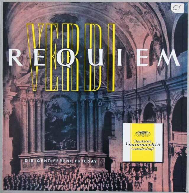 フリッチャイのヴェルディ/「レクイエム」  独DGG 3327 LP レコード