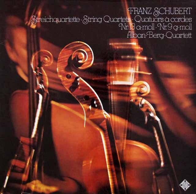アルバン・ベルク四重奏団のシューベルト/弦楽四重奏曲第9、13番「ロザムンデ」 独TELEFUNKEN 3328 LP レコード