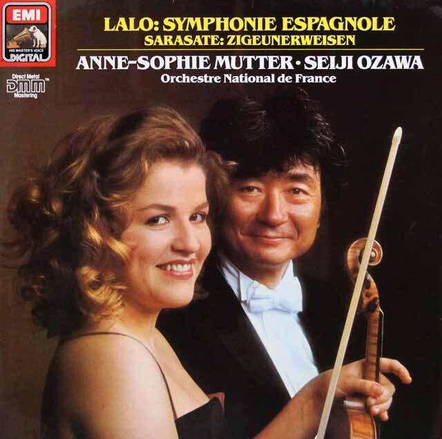 ムター、小澤のラロ/スペイン交響曲ほか 独EMI 3328 LP レコード
