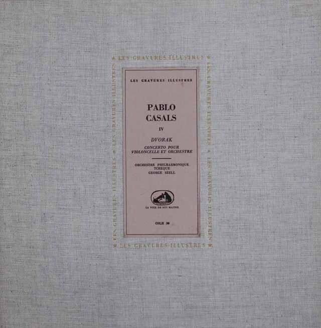 カザルス、セルのドヴォルザーク/チェロ協奏曲 仏EMI(LES CRAVURES ILLUSTRES) 3328 LP レコード