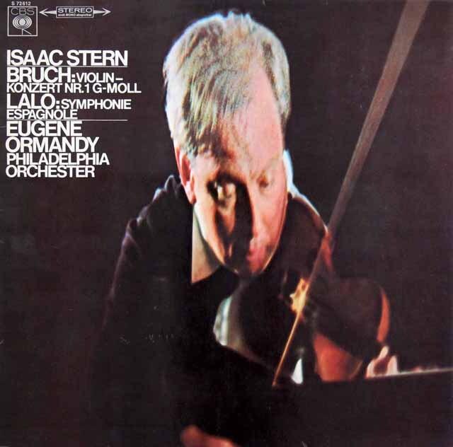 スターン、オーマンディのブルッフ/ヴァイオリン協奏曲第1番、ラロ/スペイン交響曲 独CBS 3328 LP レコード