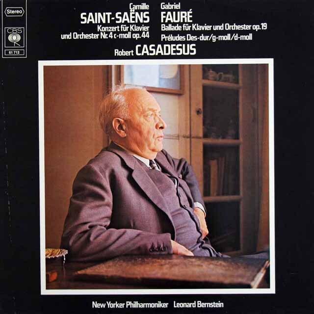 カサドシュ、バーンスタインのサン=サーンス/ピアノ協奏曲第4番ほか 独CBS 3328 LP レコード