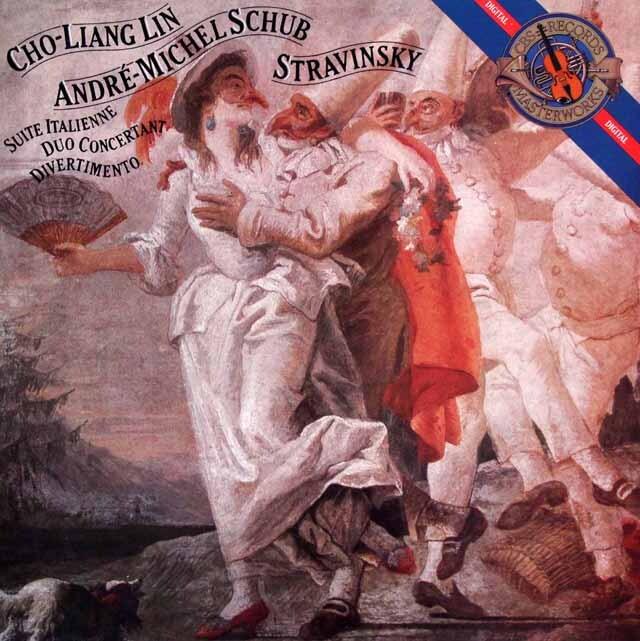 チョーリャン・リン、シュープのストラヴィンスキー/イタリア組曲ほか 蘭CBS 3328 LP レコード