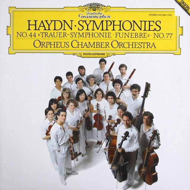 オルフェウス室内管弦楽団のハイドン/交響曲第44、77番 独DGG 3328 LP レコード