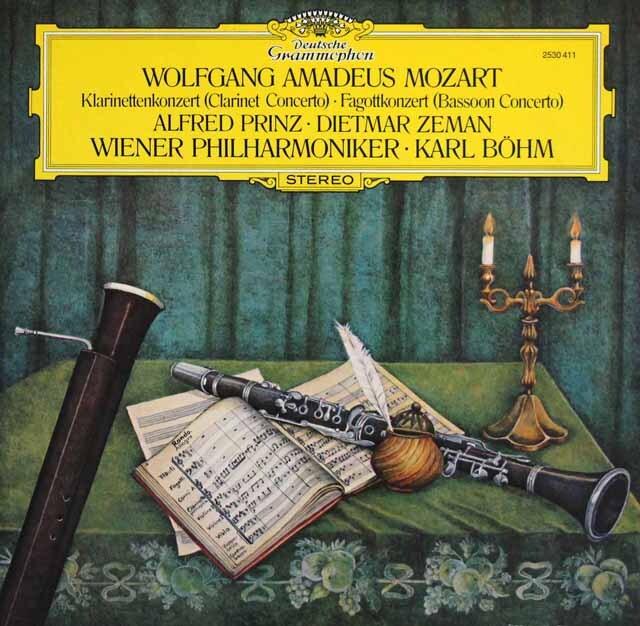 プリンツ、ベームのモーツァルト/クラリネット協奏曲ほか 独DGG 3328 LP レコード