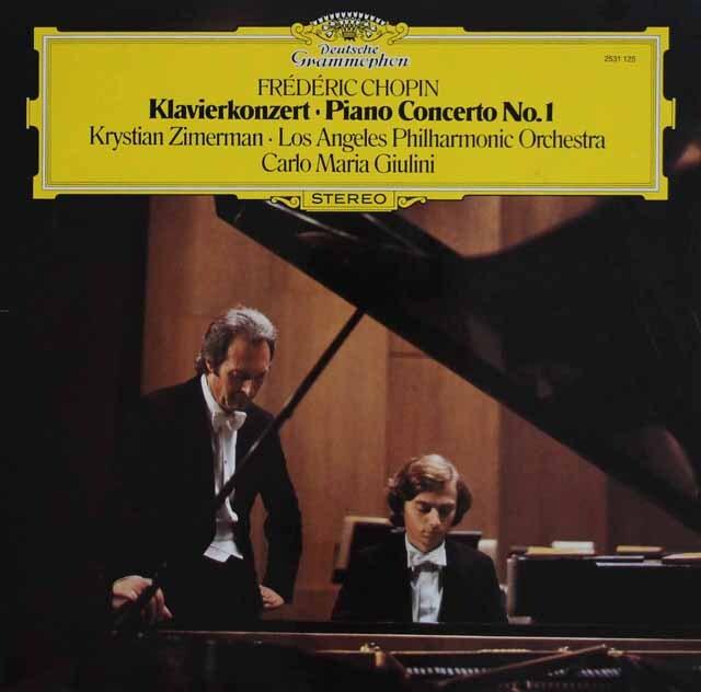 ツィマーマン、ジュリーニのショパン/ピアノ協奏曲第1番 独DGG 3328 LP レコード