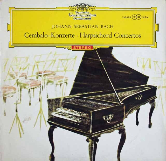 【赤ステレオ/独最初期盤】 マーロー、クック、ザイデンベルクらのバッハ/2台、3台、4台のチェンバロのための協奏曲 独DGG 3328 LP レコード