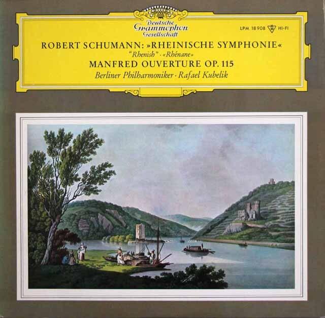 【モノラル】 クーベリックのシューマン/交響曲第3番「ライン」ほか 独DGG 3328 LP レコード
