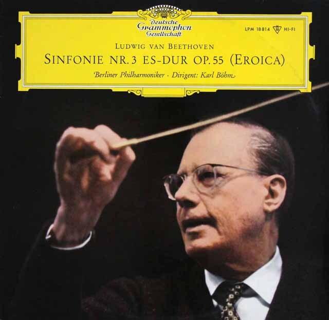 【モノラル】 ベームのベートーヴェン/交響曲第3番「英雄」 独DGG 3328 LP レコード
