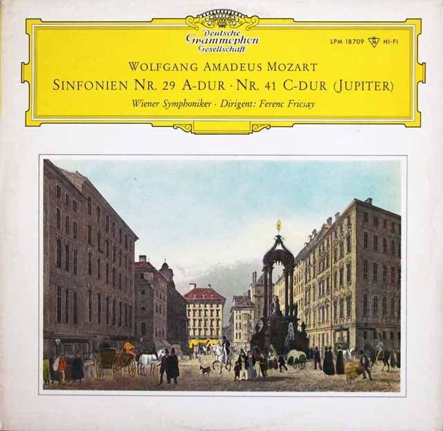 【モノラル】 フリッチャイのモーツァルト/交響曲第29、41番「ジュピター」 独DGG 3328 LP レコード