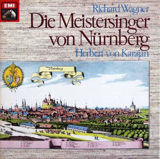 カラヤンのワーグナー/「ニュルンベルクのマイスタージンガー」全曲 独EMI 3328 LP レコード