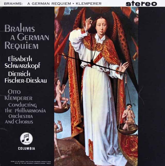 【オリジナル盤】 クレンペラーのブラームス/「ドイツ・レクイエム」 英Columbia 3328 LP レコード