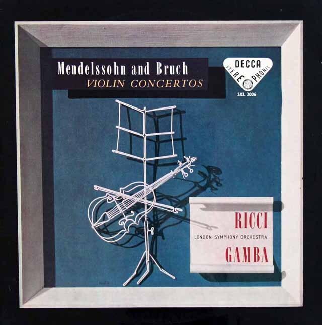 【オリジナル盤】 リッチのメンデルスゾーン、ブルッフ/ヴァイオリン協奏曲集 英DECCA 3328 LP レコード