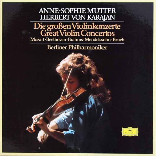ムター、カラヤンのヴァイオリン協奏曲集 独DGG 3328 LP レコード