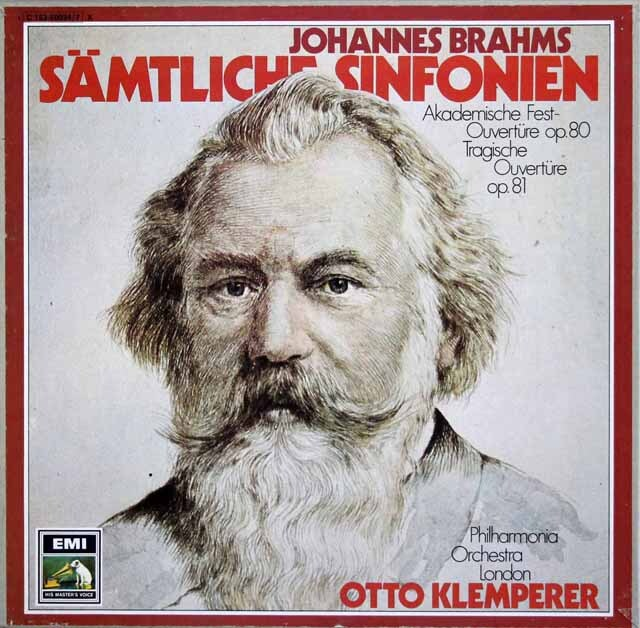 クレンペラーのブラームス/交響曲全集 独EMI 3328 LP レコード