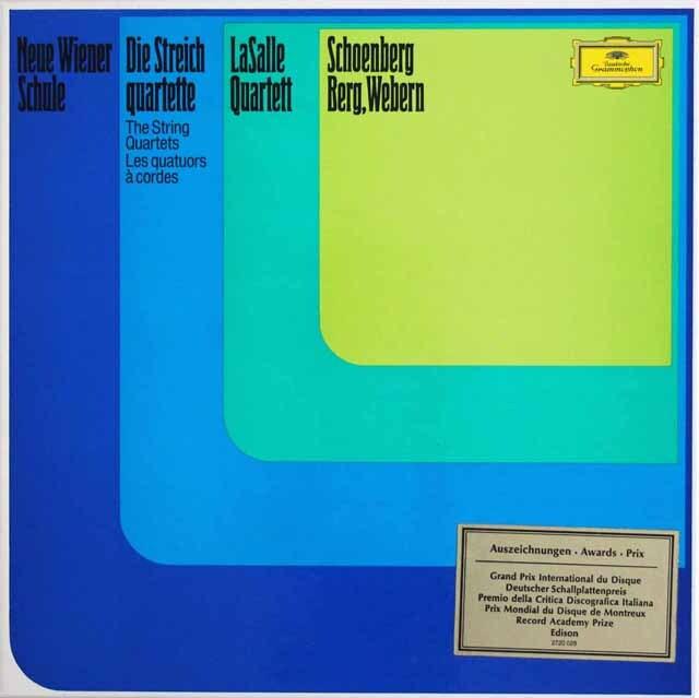 ラサール四重奏団の新ウィーン楽派の弦楽四重奏曲集 独DGG 3328 LP レコード