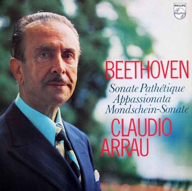 アラウのベートーヴェン/「悲愴」、「熱情」、「月光」 蘭PHILIPS 3329 LP レコード