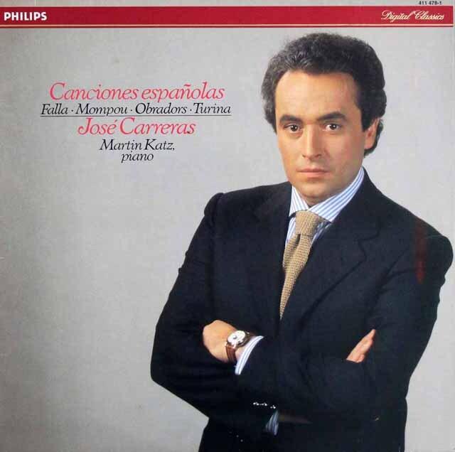 カレーラスのスペイン歌曲集 蘭PHILIPS 3329 LP レコード