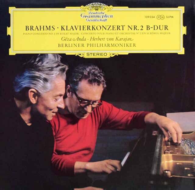 アンダ&カラヤンのブラームス/ピアノ協奏曲第2番 独DGG 3329 LP レコード