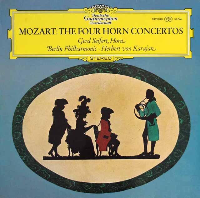 ザイフェルト&カラヤンのモーツァルト/ホルン協奏曲第1~4番 独DGG 3329 LP レコード