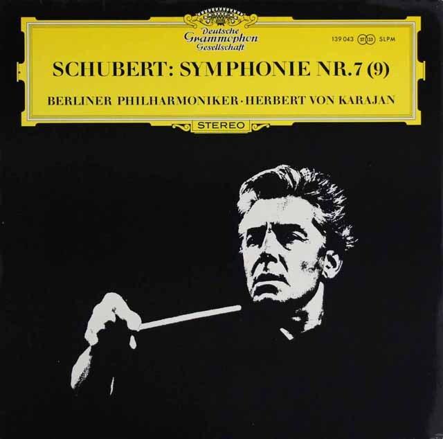 カラヤンのシューベルト/交響曲第7(9)番「ザ・グレイト」 独DGG 3329 LP レコード