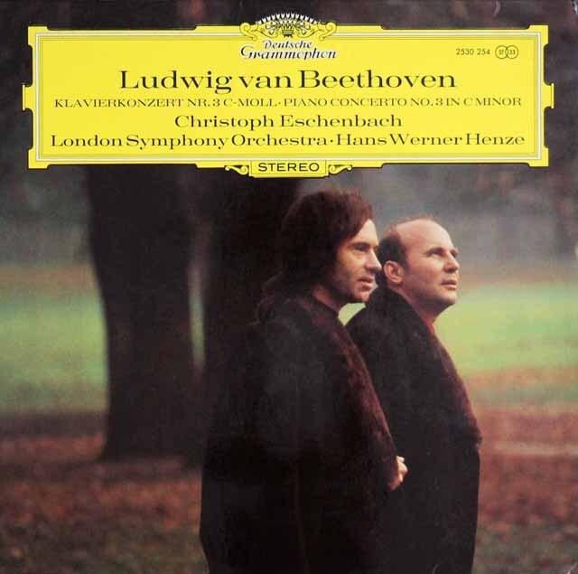 エッシェンバッハ&ヘンツェのベートーヴェン/ピアノ協奏曲第3番 独DGG 3329 LP レコード