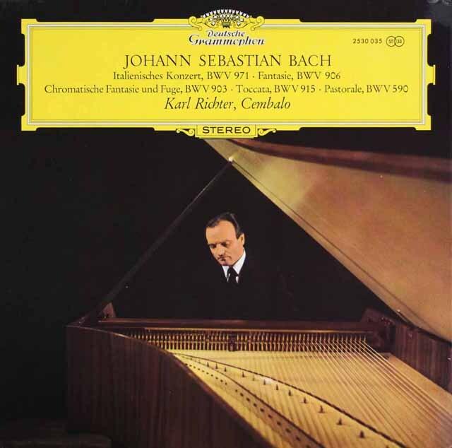 リヒターのバッハ/「イタリア協奏曲」ほかチェンバロ作品集 独DGG 3329 LP レコード