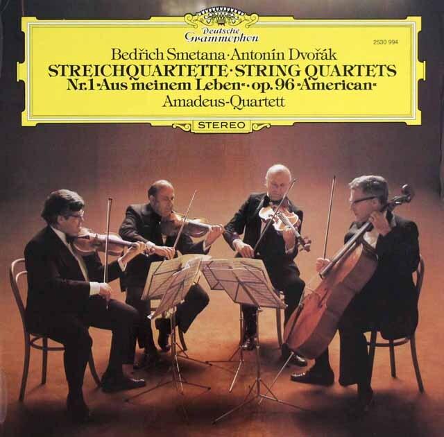 アマデウス四重奏団のスメタナ/「わが生涯より」&ドヴォルザーク/「アメリカ」 独DGG 3329 LP レコード