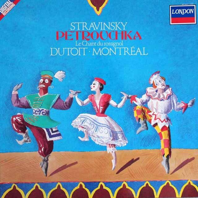 デュトワのストラヴィンスキー/「ペトルーシュカ」ほか 蘭DECCA 3329 LP レコード