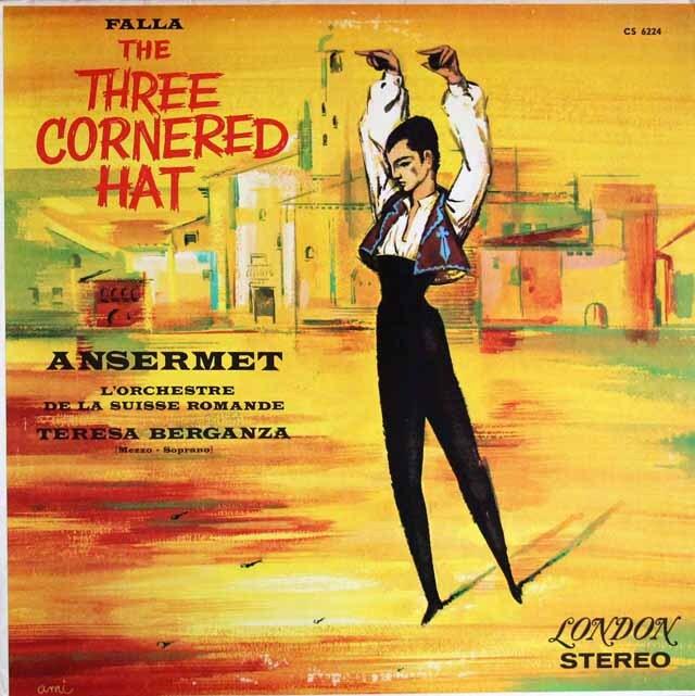 アンセルメ&ベルガンサのファリャ/「三角帽子」ほか 英LONDON 3329 LP レコード