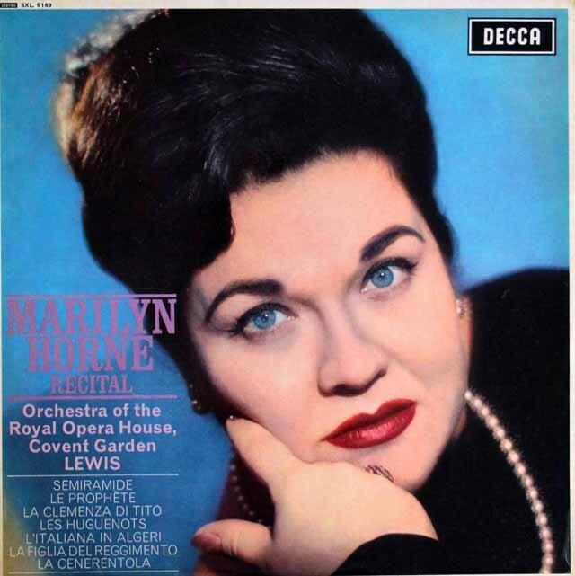 【オリジナル盤】 マリリン・ホーン/リサイタル 英DECCA 3329 LP レコード