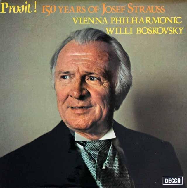 【オリジナル盤】 ボスコフスキーのヨーゼフ.シュトラウスコンサート 英DECCA 3329 LP レコード