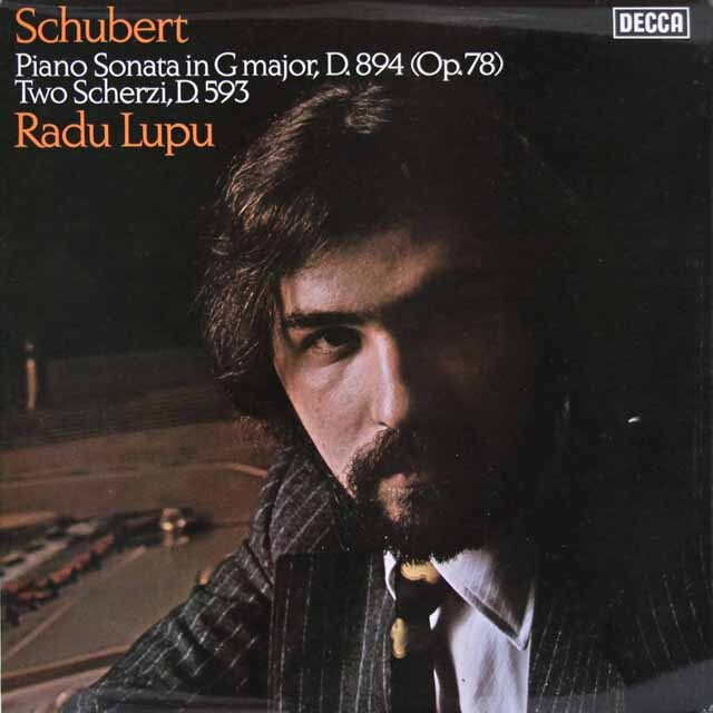 【オリジナル盤】 ルプーのシューベルト/ピアノソナタ第18番「幻想」ほか 英DECCA 3329 LP レコード