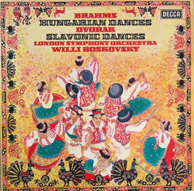 【オリジナル盤】 ボスコフスキーのブラームス&ドヴォルザーク/舞曲集 英DECCA 3329 LP レコード