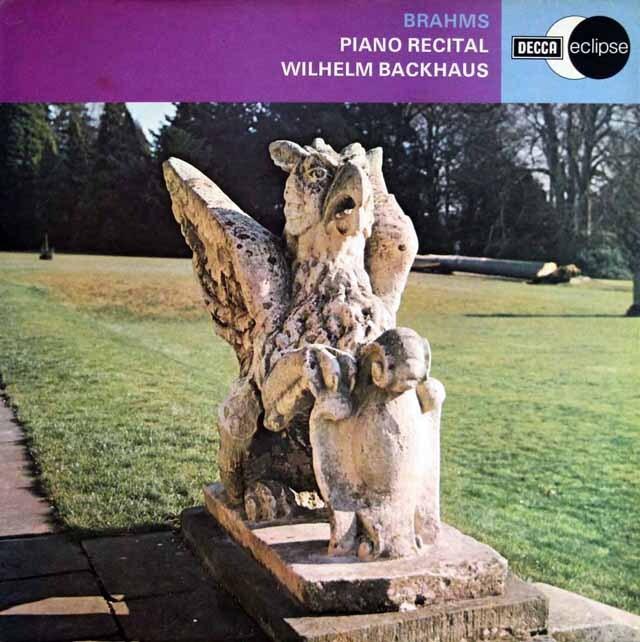 バックハウスのブラームス/ピアノ・リサイタル、6つの小品Op118ほか 英DECCA 3329 LP レコード