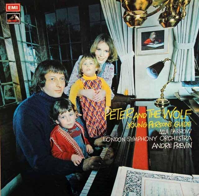 【オリジナル盤】 プレヴィン&ミア・ファローのプロコフィエフ/「ピーターと狼」ほか 英EMI 3329 LP レコード