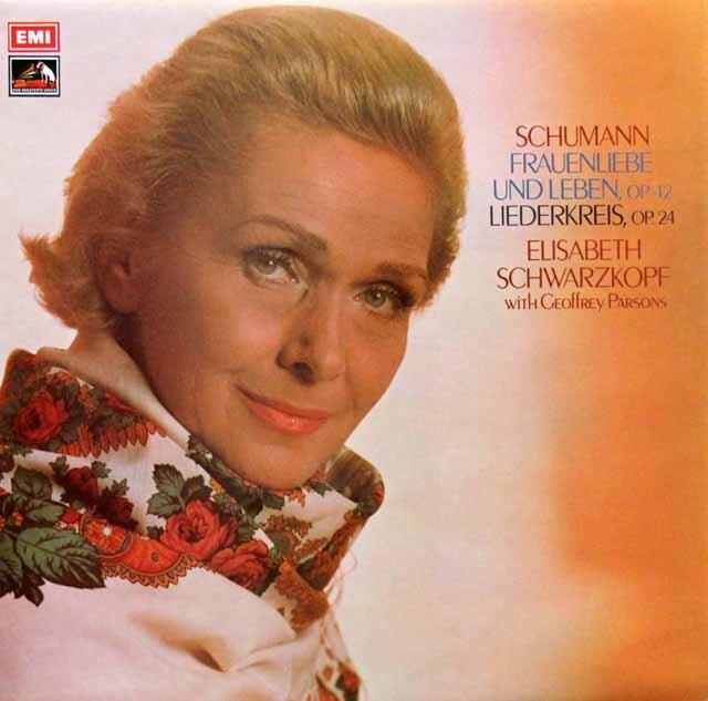 【オリジナル盤】 シュヴァルツコップのシューマン/「女の愛と生涯」ほか 英EMI 3329 LP レコード