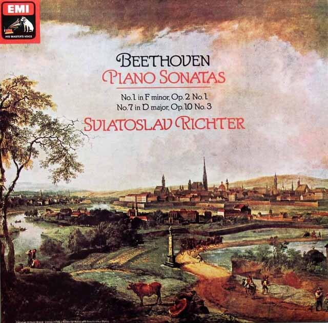 【オリジナル盤】 リヒテルのベートーヴェン/ピアノソナタ第1&7番 英EMI 3329 LP レコード