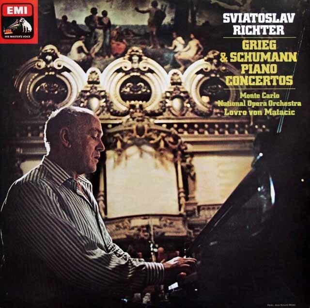 【オリジナル盤】 リヒテル&マタチッチのグリーグ&シューマン/ピアノ協奏曲 英EMI 3329 LP レコード