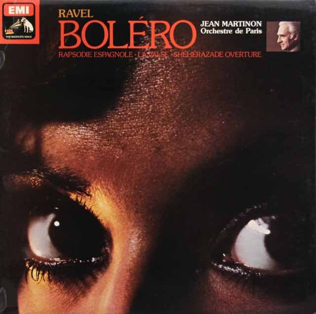 【オリジナル盤】 マルティノンのラヴェル/ボレロ、ラ・ヴァルスほか 英EMI 3329 LP レコード
