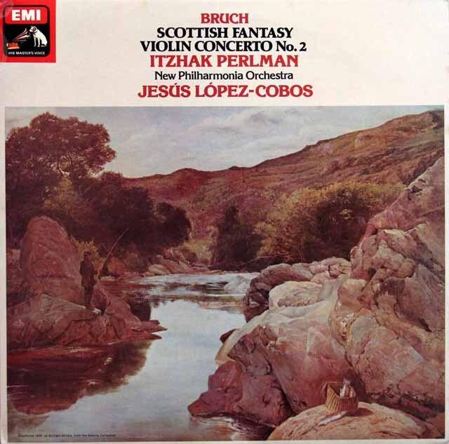 【オリジナル盤】 パールマンのブルッフ/「スコットランド幻想曲」ほか 英EMI 3329 LP レコード