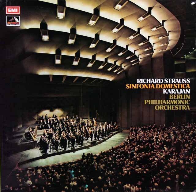 【オリジナル盤】 カラヤンのR.シュトラウス/家庭交響曲 英EMI 3329 LP レコード
